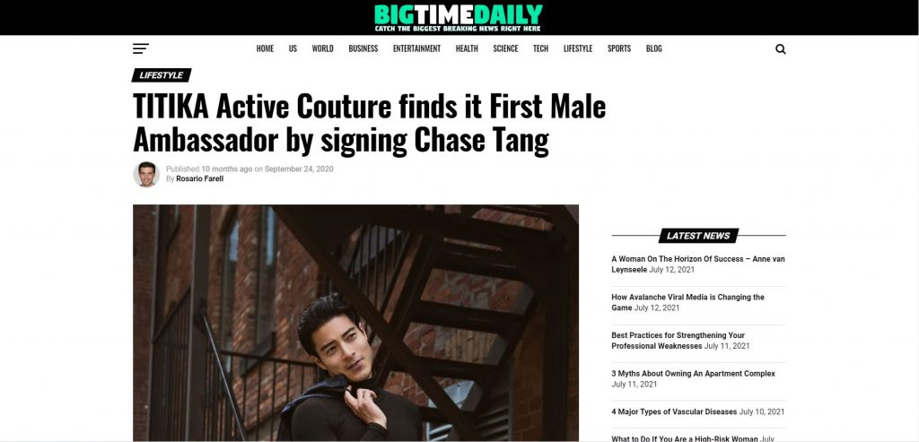 Chase Tang Big Time Daily